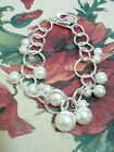 Womens Vogue Costume Pearl Bead Chain Bracelet Bangles