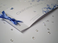 Sample Cheque Book - Butterfly Wedding Invitation