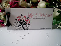 Sample Cheque Book - Rose Love Wedding Invitation - Menu, Invite, Directions