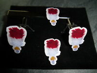 Royal Regt of Fusiliers Hackle Cufflink / Tie slide/ lapel pin set RRF red white