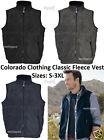 Colorado Clothing Full Zip Classic Fleece Vest 11010 S, M, L and 3XL CLOSEOUT