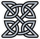CELTIC SYMBOL VINYL STICKER BUMPER DECAL RELIGIOUS CAR BIKE KNOT DESIGN 07 grey