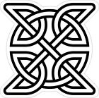 CELTIC SYMBOL VINYL STICKER BUMPER DECAL RELIGIOUS CAR BIKE KNOT DESIGN 01
