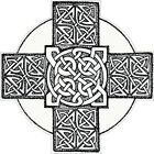 CELTIC CROSS VINYL STICKER BUMPER DECAL RELIGIOUS CAR BIKE MOTO KNOT DESIGN 07