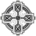 CELTIC CROSS roundel VINYL STICKER BUMPER DECAL RELIGIOUS CAR KNOT DESIGN 01