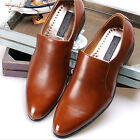 New Handmade Mens Leather Dress Formal Brown Shoes Loafers Slip On Casual