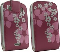 Pink Flower Flip Leather Case Cover for Blackberry 9900 9930 Bold