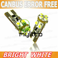 2 x LED Light Bulbs [501, W5W] Car Front Sidelight 12v T10 Canbus 8SMDD WHITE