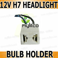 H7 [499] 2 Pin Dip/Low Beam Headlight Bulb HOLDER CONNECTOR TERMINALS Ceramic x1