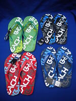 URBAN BEACH LOGO MENS  FLIP/FLOP GREEN RED BLUE BLACK   6-11 FIRST CLASS POST