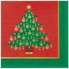 Golden Christmas Partyware Lunch Napkins / serviettes x 16 Christmas Party