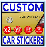PERSONALISED CUSTOM CAR STICKERS Vinyl Decals Bumper Graphics Lettering Pro Cut