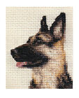 GERMAN SHEPHERD DOG ~ Full counted cross stitch kit + all materials