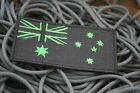 Australian Flag Patch Sew/Stitch On Badge Full Embroidered w/velcro L10cm Black