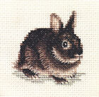 SILVER MARTEN RABBIT, bunny, counted cross stitch kit