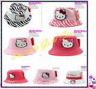 Brand new Kids Children Girls Hello Kitty Cotton Sun Hat Cap Perfect gifts
