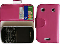 Pink Wallet Flip Leather Case Cover Pouch for Blackberry 9900 9930 Bold