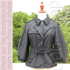 Miu Miu Navy Thick 100% Silk Cropped Jacket w/ Belt I42/M