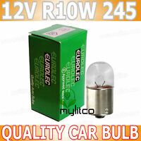 2 x Clear BA15S [245, R10W] Car Side / Tail / Number Plate Light Bulbs 12v 10w
