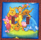WINNIE THE POOH AND FRIENDS TIGGER PIGLET AND EYORE DOUBLE SWITCH PLATE