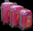 3 piece set luggage travel bags 4 wheel spinner suitcase ABS trolley hardcase