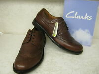Clarks Glenmore Limit Cognac Brown Leather Formal Lace Up Brogue Shoes