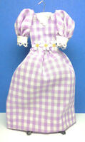 Dollhouse Miniature Size Ladies Completely Handmade Cotton Dress G206