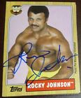 Rocky Johnson Signed 2007 Topps Heritage III WWE Card #83 Auto Autograph Legends