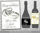 Personalised Wine Champagne Bottle Label Wedding Day, Anniversary, Hen Night Do
