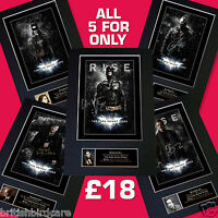 THE DARK KNIGHT RISES BATMAN All 5 for £18 Signed Autograph Mounted A4 Print 105