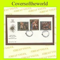 Malta 1996 Christmas paintings set First Day Cover