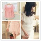 Boutique All Baby Soft Floral Lace Top + Shorts 2Ps Outfits Sets Cotton Lined