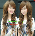 TF796# HOT Sell 2012 New cosplay long curly brown wig