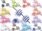 10//50pcs 12MM Multi Color Acrylic Resin Rhinestone Spacer Beads Charms