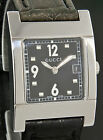 Gucci Stainless Steel 17735 Black Face Watch