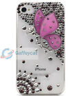 Clear 3D Best Diamod Bling Bling Rhinestone Cases Cover for i Phone 5 Butterfly