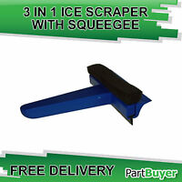 CAR WINDOW 3 IN 1 ICE FROST SCRAPER WITH SQUEEGEE SPONGE MAYPOLE MP697