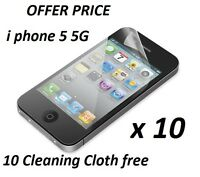 10 x Clear Screen Protector Screen Protective Film for new APPLE IPHONE 5 5G