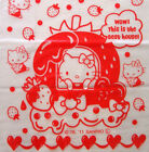 Hello kitty red strawberry translucent thin plastic kitchen grocery bag s 80pcs