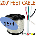 200 Feet 16/4, 16 Gauge 4 Conductor Premium Speaker Wire Cable FT4 UL AWG CL3