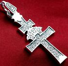 RUSSIAN GREEK ORTHODOX ICON CROSS,SILVER 925.RARE CRUCIFIX, UNIQUE COLLECTION !