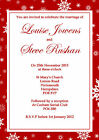 10 Personalised Wedding Invitations Save The Date Snowflake Christmas Winter