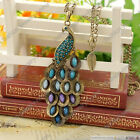 New Antiqued Peacock Pendant Multi Sequin Long Necklace