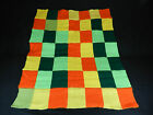 """Vintage hand knitted coverlet 37""""/40"""" n950"""