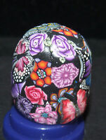 MARIANELA  NEW  SIGNED THIMBLE MILLEFIORI* MADE IN   POLYMER CLAY /CHINA #42