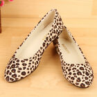Ladies Womens Preppy Casual Sexy Leopard Flats SlipOn Ballet Shoes Slippers