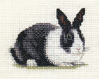 DUTCH RABBIT, Black & white bunny, Full counted cross stitch kit