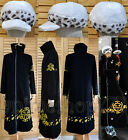 One Piece Trafalgar Law Coat Hat 2 years later Cosplay Costume Tailored