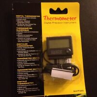 Exo-Terra Digital Thermometer W/ Probe For Reptiles/Terrariums PT2472  FREE USPS