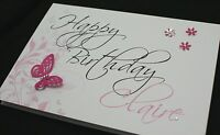 LARGE Handmade Personalised FLORAL Birthday Card16th 21st 20th 30th 40th 50th..